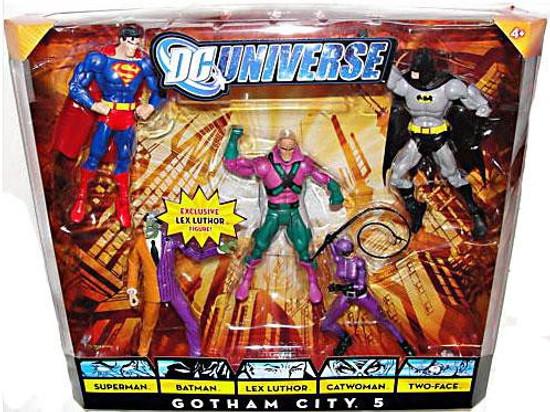 DC Universe Classics Gotham City 5 Exclusive Action Figure 5-Pack [Superman, Batman, Lex Luthor, Catwoman & Two-Face]