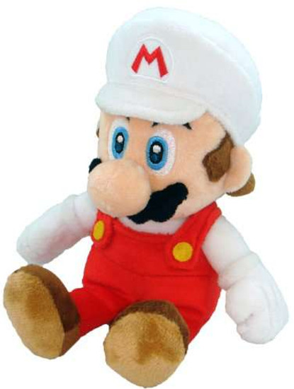 Super Mario Bros Mario 8-Inch Plush [Fire]