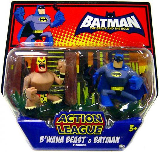 The Brave and the Bold Action League B'wana Beast & Batman Mini Figure 2-Pack