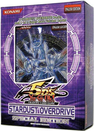 YuGiOh Trading Card Game Stardust Overdrive Special Edition [3 Booster Packs & Promo Card]