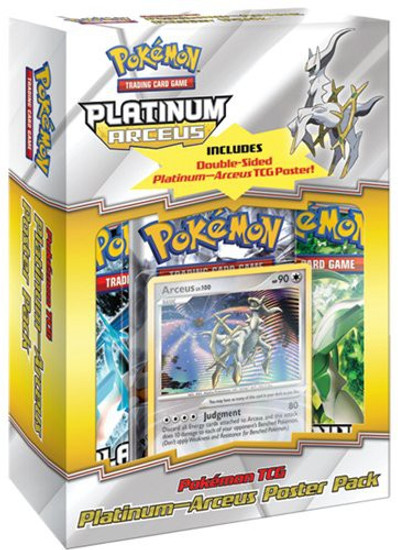 Pokemon Trading Card Game Platinum Arceus Poster Pack Special Edition
