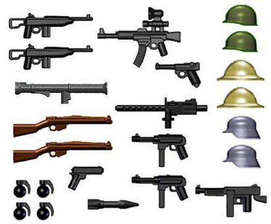 BrickArms World War II 2.5-Inch Weapons Pack [Version 1]