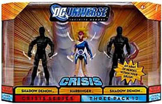 DC Universe Crisis Infinite Heroes Shadow Demon, Harbinger & Shadow Demon Action Figure 3-Pack #12