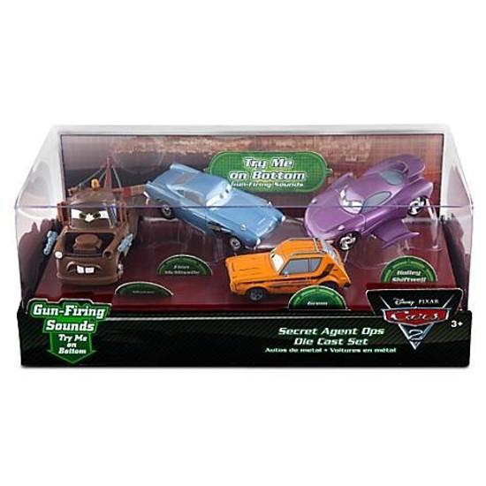 Disney / Pixar Cars Cars 2 1:43 Multi-Packs Secret Agent Ops Exclusive Diecast Car Set