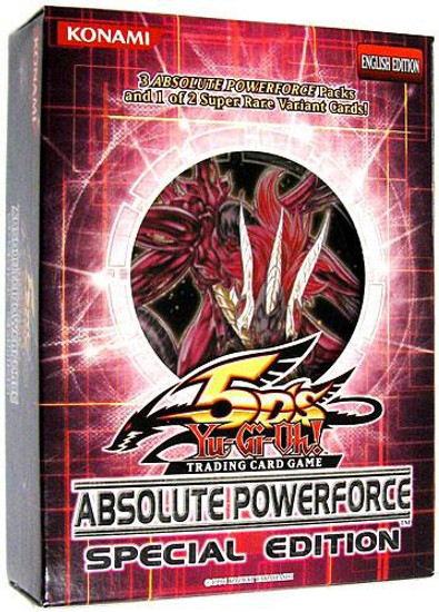 YuGiOh Trading Card Game Absolute Powerforce Special Edition [3 Booster Packs & 1 RANDOM Promo Card]