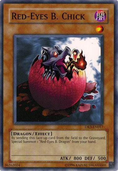 YuGiOh Dark Revelation 3 Common Red-Eyes B. Chick DR3-EN017