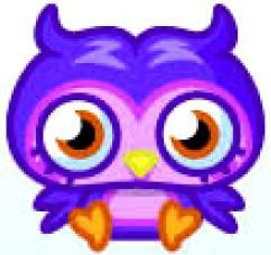 Moshi Monsters Moshlings Series 1 Prof. Purplex 1.5-Inch Mini Figure #74