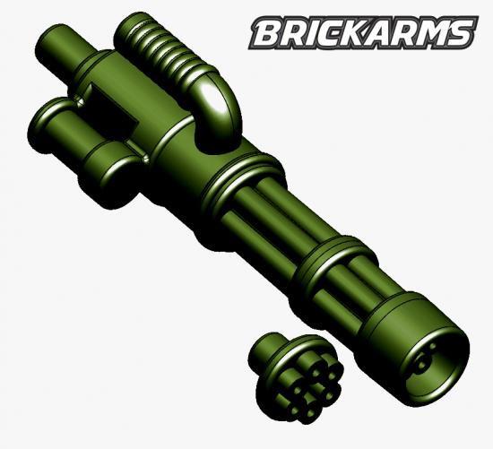 BrickArms Minigun 2.5-Inch [Dark Olive Green with No Ammo]