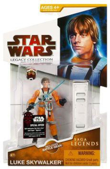 Star Wars A New Hope 2009 Legacy Collection Saga Legends Luke Skywalker Action Figure SL17