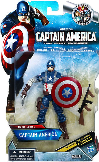 The First Avenger Movie Series 6 Inch Captain America Exclusive Action Figure