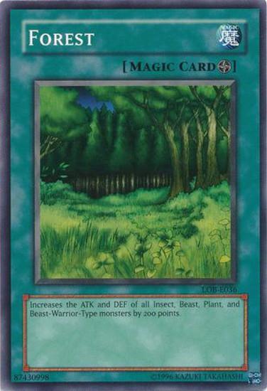 YuGiOh Legend of Blue Eyes White Dragon Common Forest LOB-046