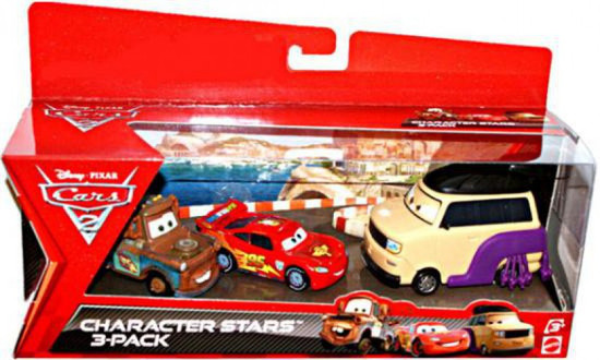 Disney / Pixar Cars Cars 2 Kingpin Nobunaga, Mater & McQueen Character Stars Die Cast 3-Pack
