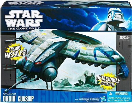 Star Wars The Clone Wars Vehicles 2011 Separatist Droid Gunship Action Figure Vehicle