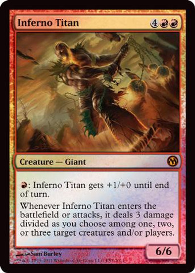 MtG 2012 Core Set Promo Inferno Titan [Duels of the Planewalkers 2012 PS3 Promo]