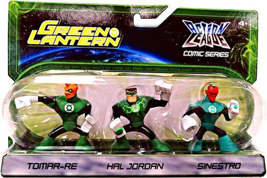 Green Lantern Action League Comic Series Tomar-Re, Hal Jordan, Sinestro Exclusive Mini Figure 3-Pack