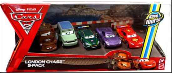 Disney / Pixar Cars Cars 2 Multi-Packs London Chase Exclusive Diecast Car