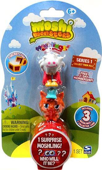 Moshi Monsters Moshlings Series 1 Mini Figure 3-Pack