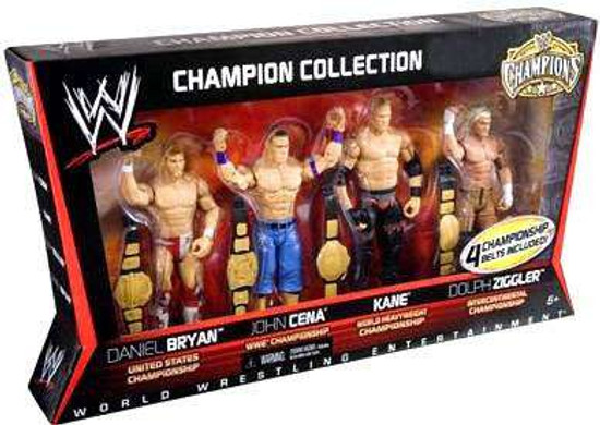 WWE Wrestling Champions Collection John Cena, Kane, Dolph Ziggler & Daniel Bryan Exclusive Action Figure 4-Pack [Set #1]