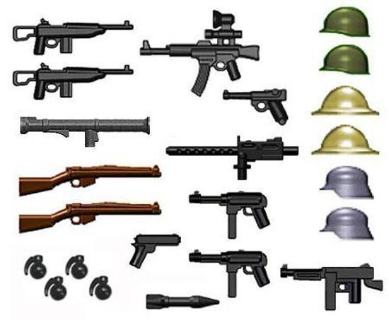 BrickArms World War II 2.5-Inch Weapons Pack [Gunmetal Grenades Version]