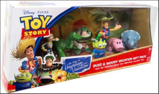 Toy Story Hawaiian Vacation Buzz & Woody Vacation Gift Pack Exclusive Mini Figure Set