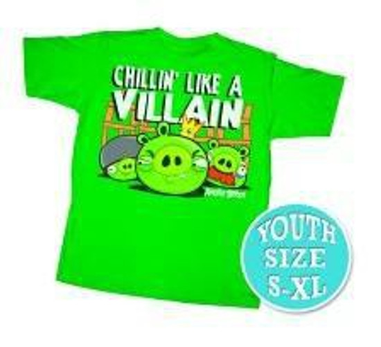 Angry Birds Chillin Like A Villain T-Shirt [Youth]