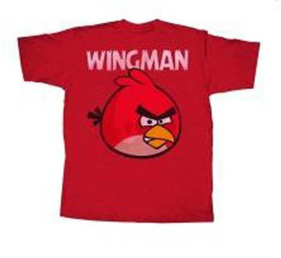 Angry Birds Wingless T-Shirt [Red, Adult Small]