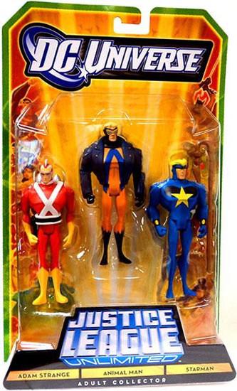 DC Universe Justice League Unlimited Adam Strange, Animal Man & Starman Exclusive Action Figures