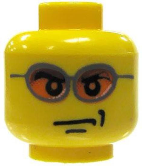 Smirk & Orange Sunglass Minifigure Head [Yellow Loose]
