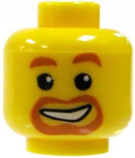 Red Goatee Minifigure Head [Yellow Loose]