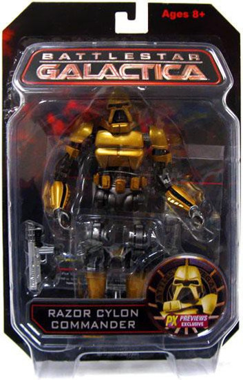 Battlestar Galactica Razor Cylon Commander Exclusive Action Figure [Gold]