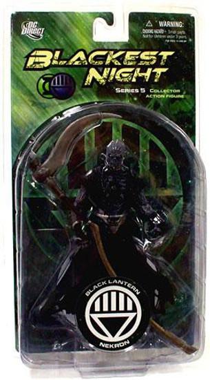 DC Green Lantern Blackest Night Series 5 Black Lantern Nekron Action Figure