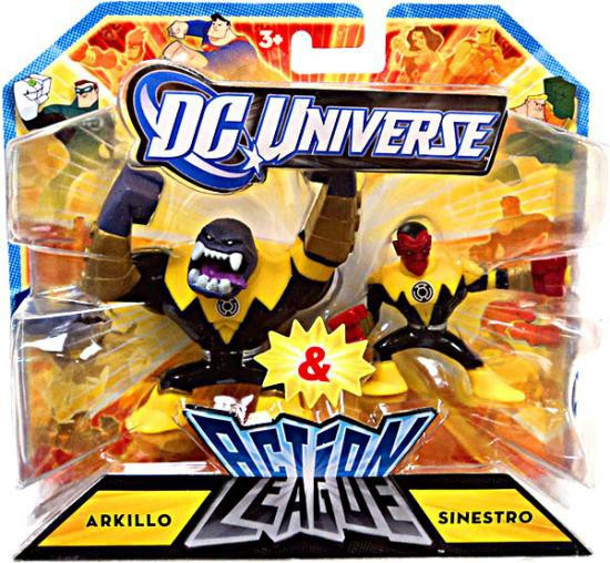 DC Universe Green Lantern Action League Arkillo & Sinestro 3-Inch Mini Figures