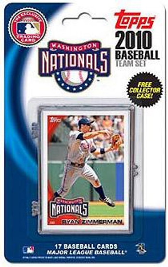MLB 2010 Topps Baseball Cards Washington Nationals Exclusive Team Set
