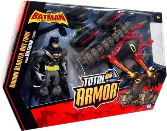 Batman Brave and the Bold Total Armor Ground Blaster Bat-Tank Action Figure Set