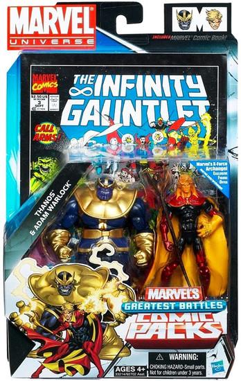Marvel Universe Thanos & Adam Warlock Action Figure 2-Pack