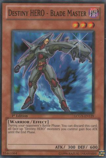YuGiOh GX Trading Card Game Legendary Collection 2 Common Destiny HERO - Blade Master LCGX-EN129