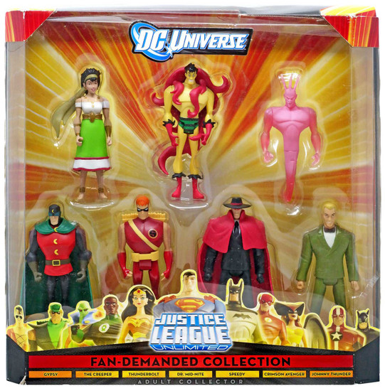DC Universe Justice League Unlimited Fan Demanded Collection Exclusive Action Figure 7-Pack