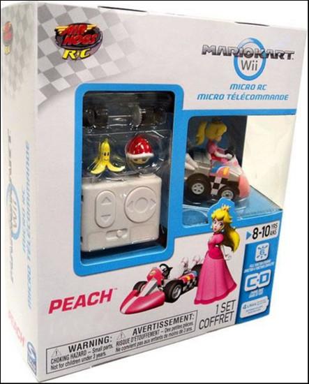 Super Mario Mario Kart Wii Micro Remote Control Peach Exclusive R/C Vehicle