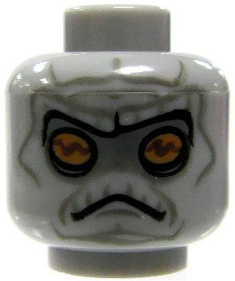 Gray Alien with Yellow Eyes & Lined Face Minifigure Head [Loose]