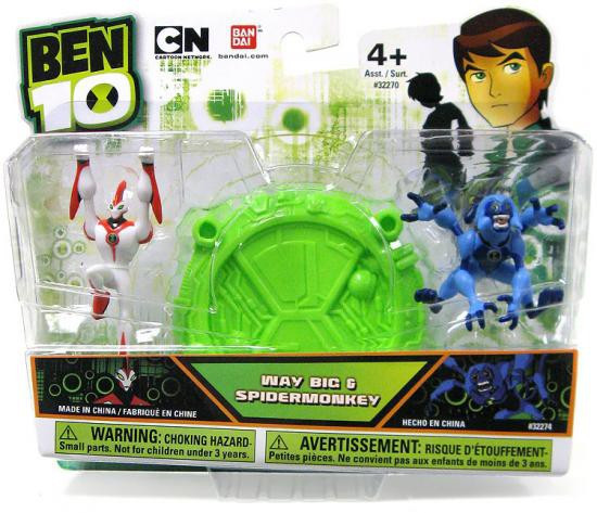 Ben 10 Way Big & Spidermonkey 2.5-Inch Mini Figure 2-Pack