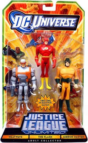 DC Universe Justice League Unlimited Heatwave, The Flash & Mirror Master Action Figures