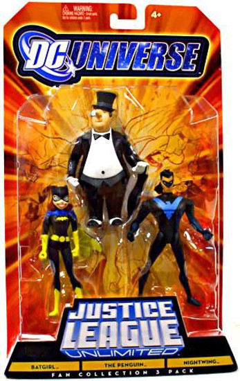 DC Universe Justice League Unlimited Fan Collection Batgirl, Penguin & Nightwing Action Figures