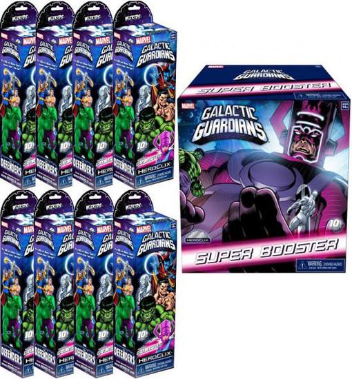 Marvel HeroClix Galactic Guardians ClixBrick [8 Booster Packs & 1 SUPER Pack]