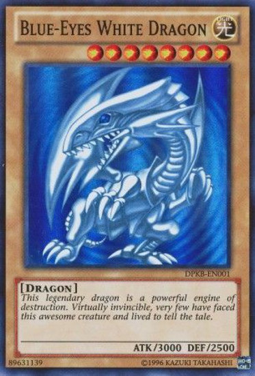 YuGiOh Duelist Pack Kaiba Super Rare Blue-Eyes White Dragon DPKB-EN001