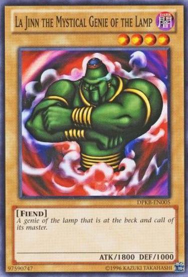 YuGiOh Duelist Pack Kaiba Common La Jinn the Mystical Genie of the Lamp DPKB-EN005