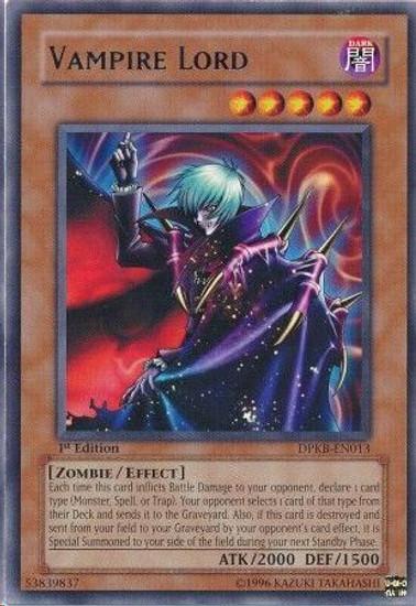 YuGiOh Duelist Pack Kaiba Rare Vampire Lord DPKB-EN013
