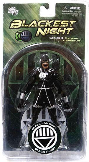 DC Green Lantern Blackest Night Series 8 Black Lantern Black Flash Action Figure