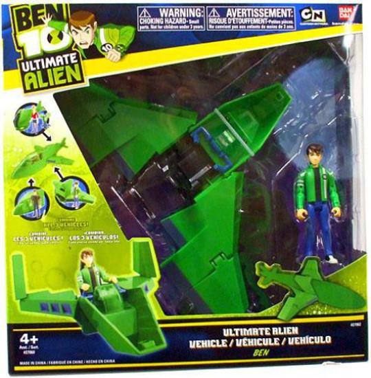 Ben 10 Ultimate Alien Wing Fighter Action Figure Vehicle