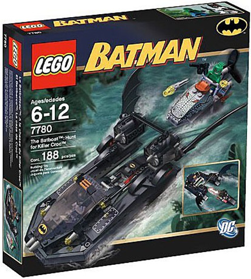 LEGO Batman The Batboat: Hunt for Killer Croc Set #7780 [Damaged Package]
