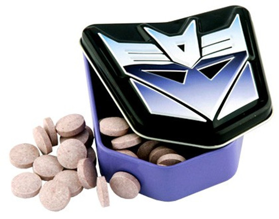 Transformers Decepticon Berry Sours Candy Tin